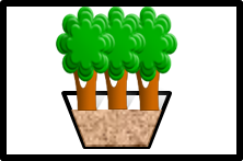 Symbol for tree trench system-treebox