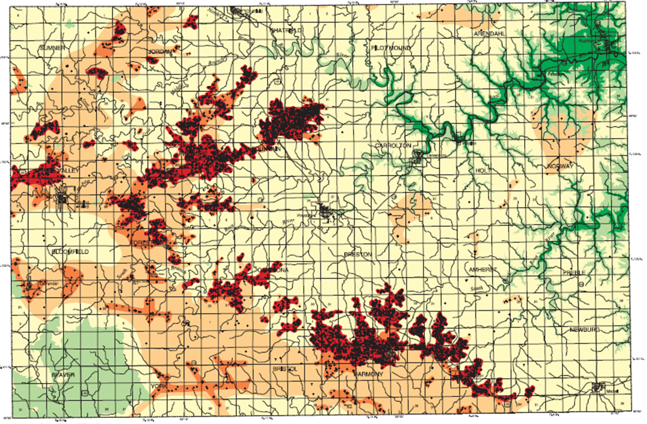 Filefillmore County Sinkhole Probability Mappng Minnesota - Us-sinkhole-map
