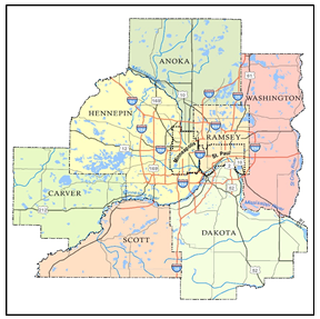 Mn State Map With Cities And Counties.File Twin Cities 7 County Metropolitan Area Tcma Png Minnesota