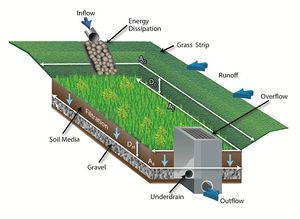 schematic showing biofiltration system