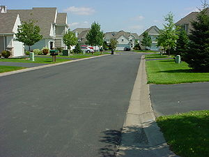 Photo of Eagle Valley - Woodbury Minnesota example of narrow street