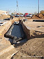 photo of pipe and trench system at Maplewood Mall