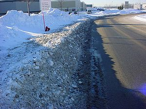Photo example of nearby Areas of Snow Accumulation from Distribution/Plowing
