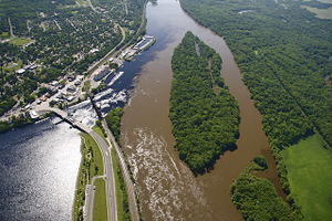 image of Miss  and St Croix rivers confluence
