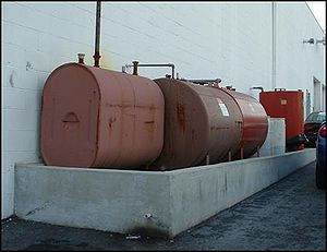 Photo of tanks above ground at industrial site
