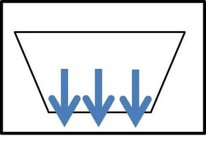 MIDS calculator symbol for infiltration basin