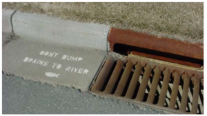 This image shows a labeled stormdrain