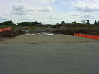 photo illustrating a Rock Construction Entrance