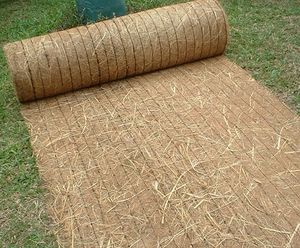 photo erosion control blanket made from straw