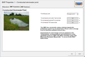 screen shot of constructed pond tab