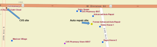 schematic for CVS site