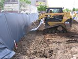 photo of soil placement for Light Rail Corridor project