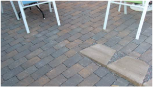 This image shows Pervious pavers in Minneapolis, MN