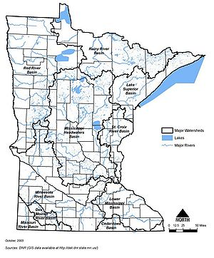Watershed Maps Minnesota Stormwater Manual - Minnesota rivers map