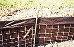photo illustrating a silt fence