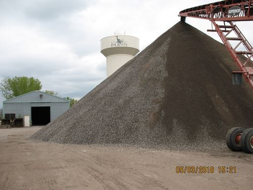 asphalt pile from recycled asphalt