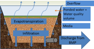 schematic of biofiltration water quality volume