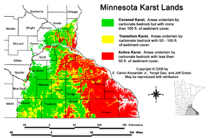 Karst Minnesota Stormwater Manual - Us karst map usgs
